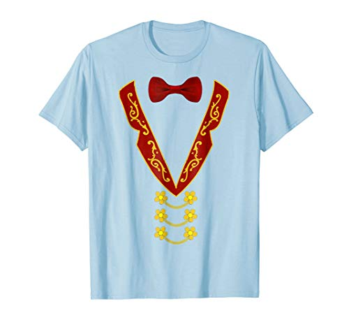 Mens Ringmaster T-Shirt Circus Costume Role Play Fancy Dress XL Baby Blue