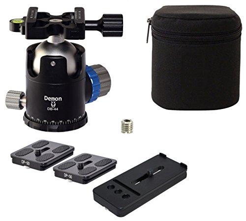 Demon KIT DB-44 & 3 QR Plates 46mm Tripod Ball Head Arca Compatible with Pan Lock Desmond