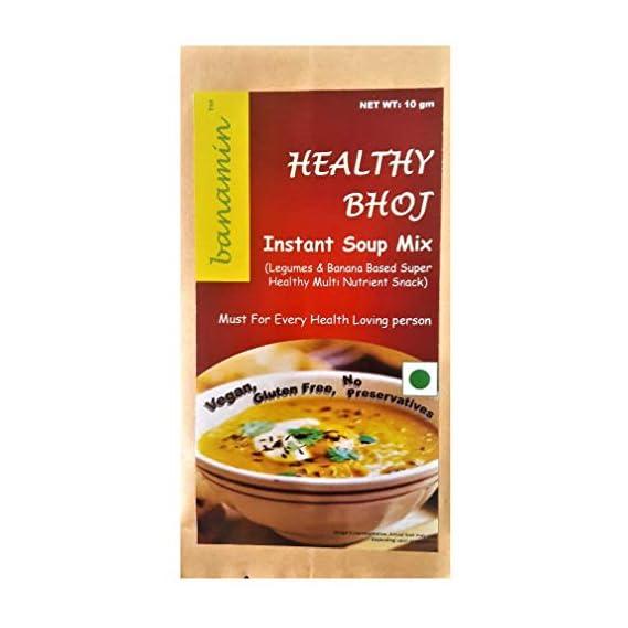 BANAMIN HealthyBhoj Instant Soup Mix (10g x 10 Sachet)   Vegan   Gluten Free   Legumes
