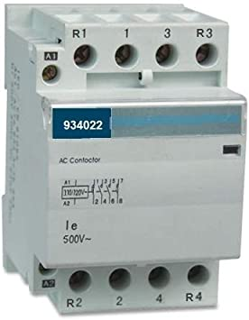 4 Pole 120V coil 40 Amp Lighting IEC DIN 30A Contactor Normally Closed NC 40A