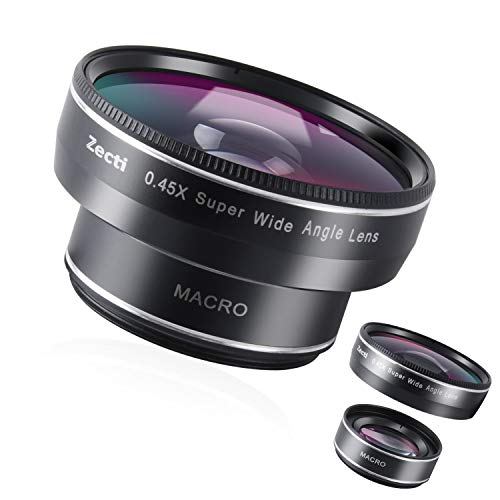 Phone Camera Lens, Zecti 0.45x120° Wide Angle Lens 2 in 1, 10X Macro Lens Cell Phone Lens Suitable for all smartphones such as 6 7 8 X/s/p, Samsung Google LG HUAWEI Motorola