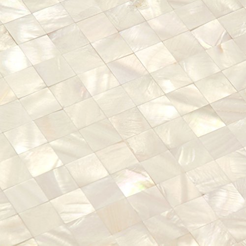 - Mother Of Pearl Tile White Backsplash Kitchen Shell Mosaic Tile Bathroom Wall [Pack of 11PCS(11.8 x11.8 x 0.08 Inches /each)]
