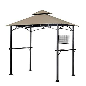 Garden Winds LCM1195B-RS Tile Grill Gazebo Riplock 350 Replacement Canopy, Beige