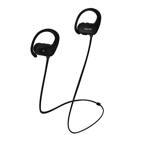 Ralyin MP3 Music Player Sport Wireless Headphones Bluetooth Earbuds Built in 8GB Memory Headset Sweatproof Earphones for Running Gym Workout Audifonos with Mic,Best Sound Walkman (Black) (Headphones Memory Card)