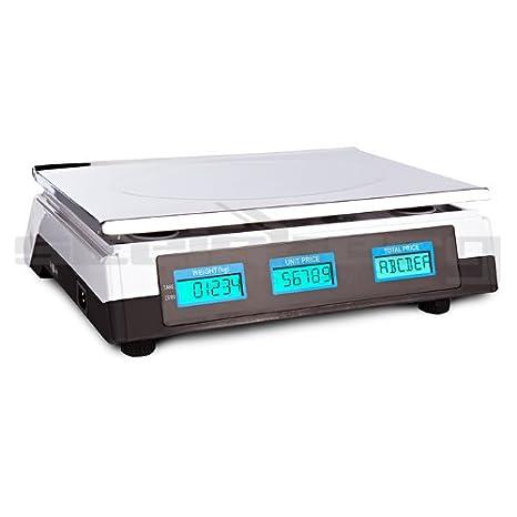 LCD Con livella ad acqua SBS-PW- 402C Steinberg Systems Bilancia prezzatrice 40 kg // 2 g