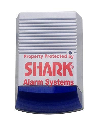 Dummy Alarm Bell Box - Dummy Burglar Alarm Box - Solar Powered - Flashing LED - Blue lens by DCC