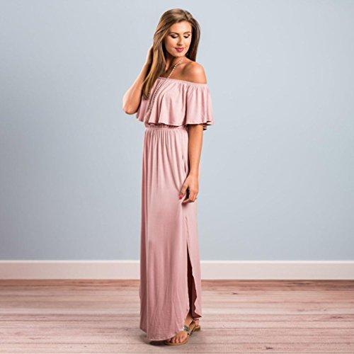 Tops Casual Plier Mode Longue Split Volante Taille Quotidien Plage Femme Loose Robe Dress SANFASHION 3 Chic 4ExqfX