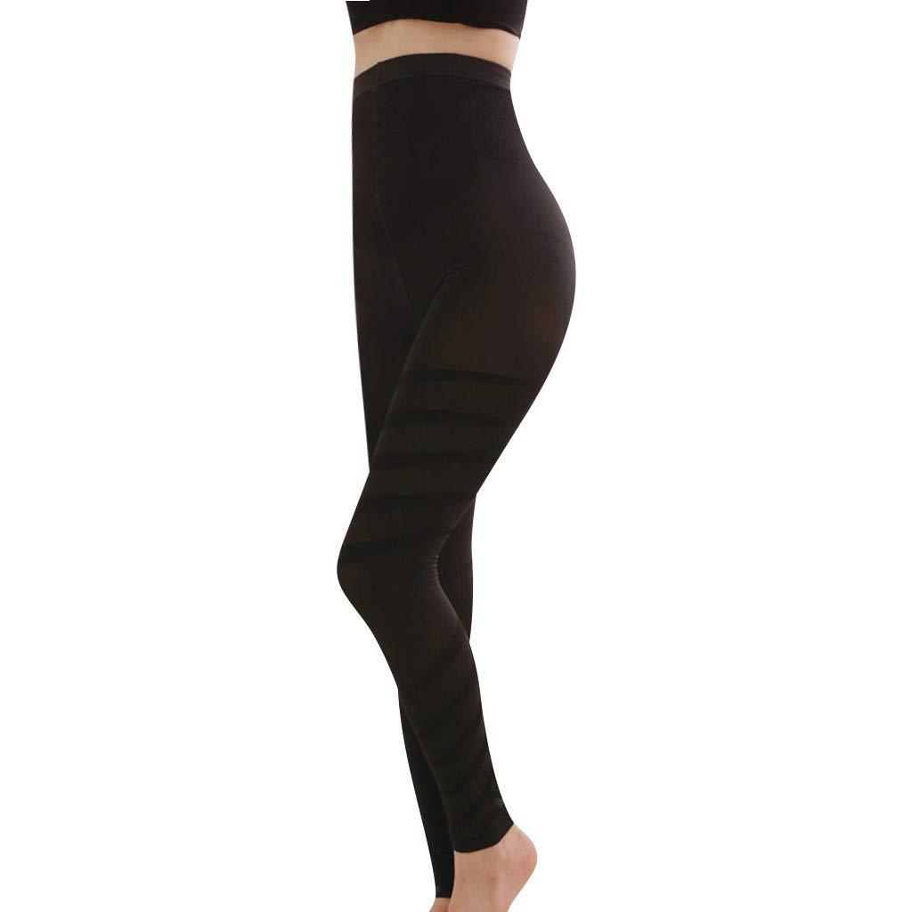 Sculpting Sleep Leg Shaper Pants - Legging High Waist Women Body Shaper Footsteps Black