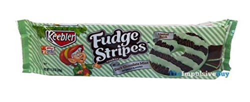 Fudge Stripes-Dark Chocolate Mint - 11.5oz ( 1 PACK ) ( LIMITED EDITION - Mint Keebler Cookies