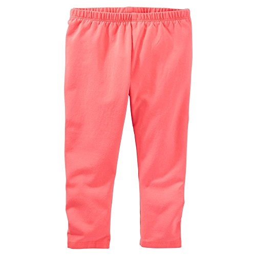 Oshkosh Capris - OshKosh B'gosh Garment-Dyed Solid Orange Capri Leggings (5)