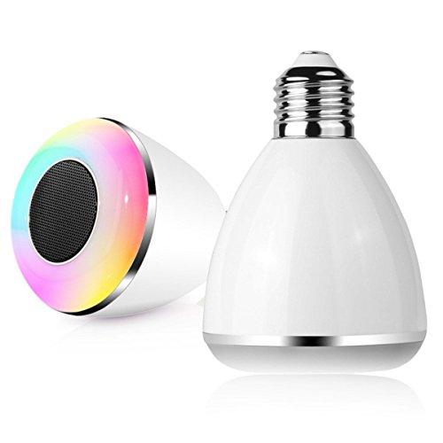 Light Bulb Rings light bulb appliance Hot Selling RGB Color Light Bluetooth 4.0 Smart LED Bulb Music Audio Speaker light bulb ring ceramic White by Light Bulb Rings