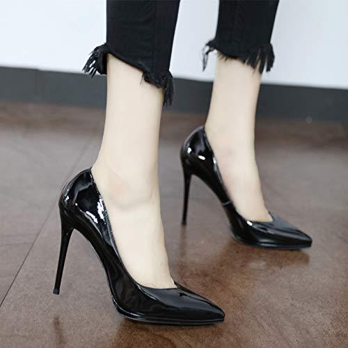 Fina Elegante Moda YMFIE Boda Sexy Zapatos Zapatos tacón Temperamento Alto Europea Puntiagudo con de A de wqpqdXE