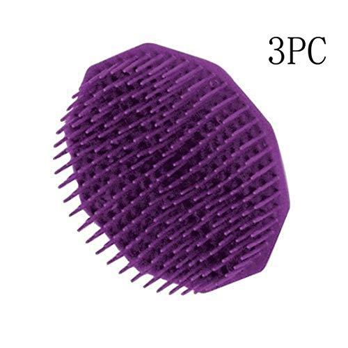 Silicone Shampoo Scalp Shower Body Washing Hair Massage Massager Brush Comb