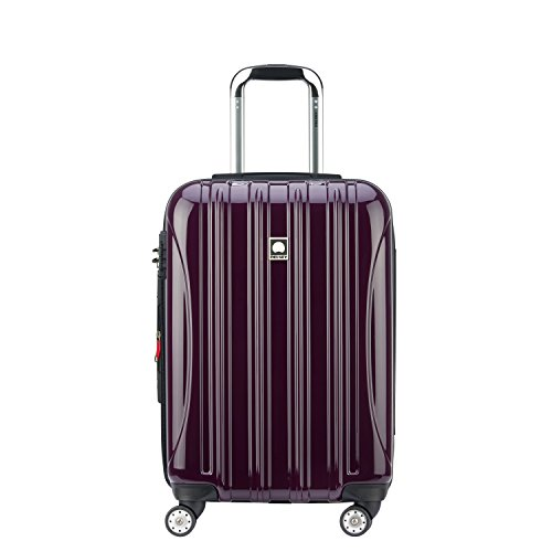 DELSEY Paris Delsey Luggage Helium Aero  Carry On Luggage  Hard Case Spinner Suitcase  Plum Purple