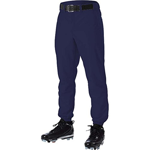 ALLESON 605PY YOUTH BASEBALL UNIFORM BOYS SOLID PANTS - Youth Navy Blue Softball Pants