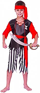 Generique Disfraz de pirata para niño o niña 4-6 años (104/116 ...