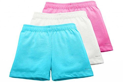 Little Girls Under Skirts and Dresses Modesty Shorts, 3-pack, Sizes 3T- Girls 12, by Sparkle Farms