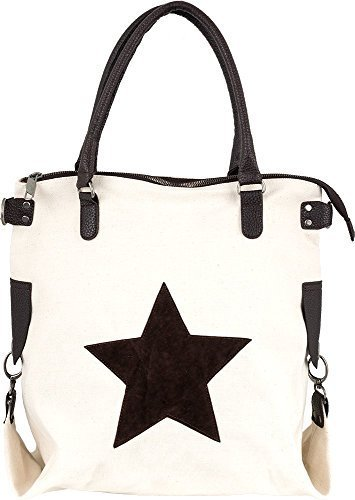 Bags4Less F3151 - Bolso de hombro Mujer Crema