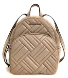 Michael Kors Abbey Medium Quilted Leather Backpack Pearl Grey