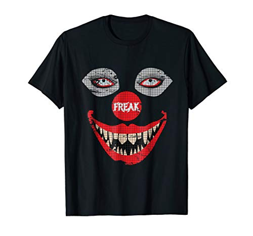 Creepy Clown TShirt - Scary Clown Face Spooky Freaky Tee