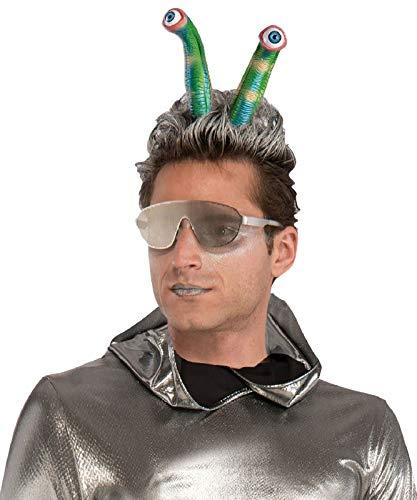 Forum Novelties Alien Martian Fantasy Eyeball Antennas Headband Space Sci-Fi Costume Accessory -