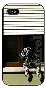 iPhone 4S Dalmatian in the morning - black plastic case / dog, animals, dogs