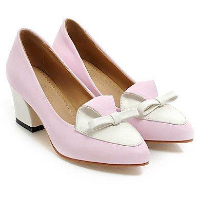 de Tacones Zapatos Por UK6 rosa noche vestido mujer US8 fiesta la Chunky CN39 negro boda FYios EU39 Morado verde amp;Amp; gt5qwpp