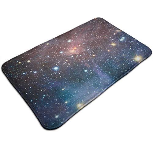 Carina Nebula Space Non-Slip Bathroom Rug Mat Shower Mat Machine-Washable Bath Mats with Water Absorbent Soft Microfibers, 20