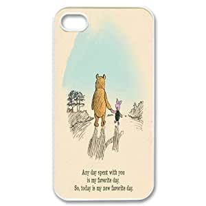 Customized Winnie the Pooh Hard Case For Iphone 4 4S case cover GHLR-T415586