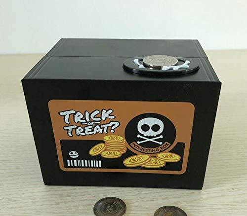 ABS Noir FRGVSXZCX T/ête de Mort Tirelire Ghost Voler pi/èce de Monnaie Tirelire Tirelire Bo/îte 12x10.5x9.6cm