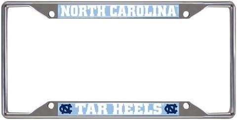 Chapel Hill Tar Heels Chrome License Plate Frame FANMATS NCAA UNC University of North Carolina