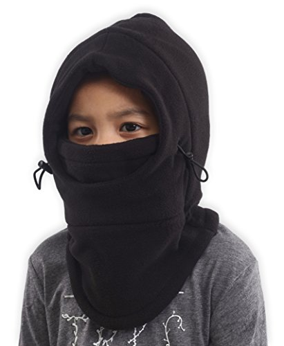 Kids Fleece Winter Hat & Balaclava - Cold Weather Face Mask & Neck Warmer with Hood - Ultimate Thermal Retention - Thick, Windproof Fleece to Keep Your Children Warm