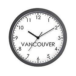 CafePress Vancouver Modern Newsroom Unique Decorative 10 Wall Clock