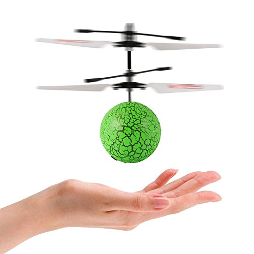 Lanlan Flying Balls RC Green Flying Ball Drone Helicopter for Kids with Remote Controller