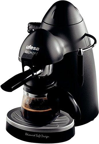 Ufesa CE7120 Eleganza, Negro, 750 W, 230 V, 230 MB/s, 50 Hz, 245 x 290 x 175 mm - Máquina de café: Amazon.es: Hogar