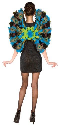 [BuySeasons Women's Peacock Wings One-Size Blue] (Adult Halloween Costumes Ideas)