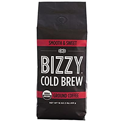 Bizzy Organic Cold Brew Coffee - Smooth & Sweet - Ground Coffee - 1 Pound