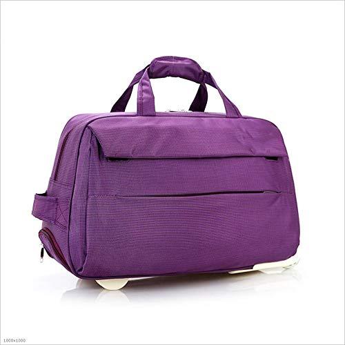 スタイリッシュでシンプルなハンドバッグ大容量のバッグショートオックスフォードブルーバッグカジュアル 旅行用ハンドバッグ (色 : 紫の, サイズ : S) Small 紫の B07QJ8HDGL