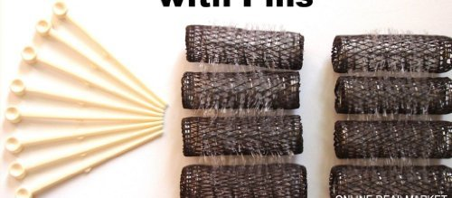 "16 BRUSH ROLLERS & PINS Small Mini Hair Curlers Bristles 2"""