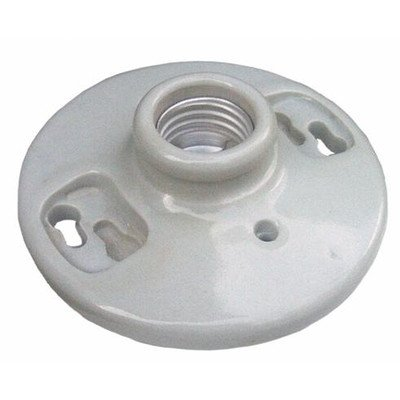 Morris 82110 Porcelain Receptacle, Keyless Screw Terminals, White