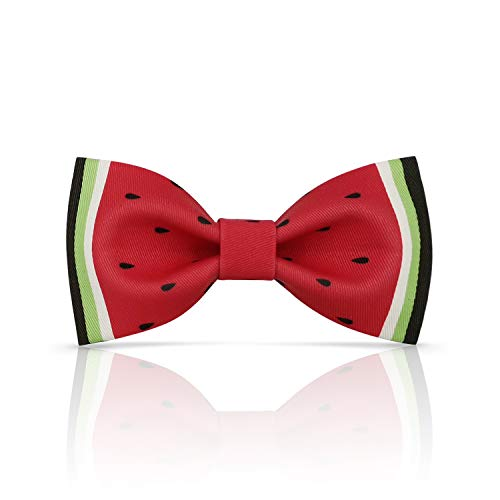 Lanzonia Boy's Bowtie Funny Watermelon Pattern Kids Bow Tie