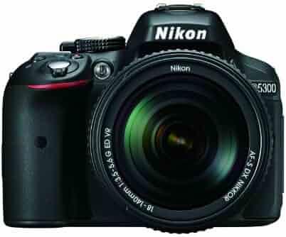Nikon D5300 24.2 MP CMOS Digital SLR Camera with 18-140mm f/3.5-5.6G ED VR Auto Focus-S DX NIKKOR Zoom Lens (Black)