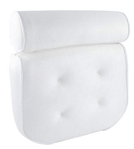 Bath Pillow by Tidelands | Premium, Non-Slip, Lightweight Bath Pillow Made to Fit Your Relaxation Needs at Home