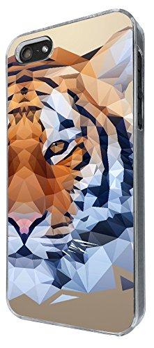285 - Cool Fun Tiger face Design iphone 5 5S Coque Fashion Trend Case Coque Protection Cover plastique et métal