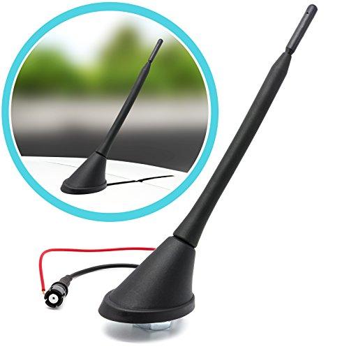 /Antenne Autoradio Voiture Allume-Cigare antenne pied Raku 2/Socle avec amplificateur 16/V Kit pour Lancia/ Adaptateur antenne tige Universe courte 3/cm Antenne de toit