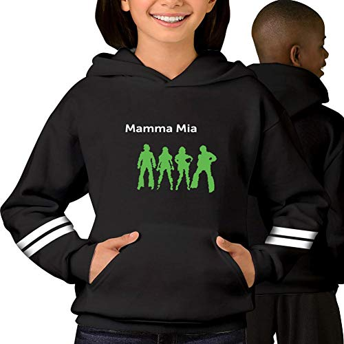 TLZCGWCW ABBABBCC Mamma MIA Youth Hoodie Sweater Jacket Pullover ()