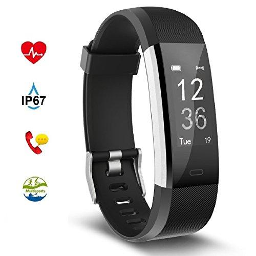 Fitness Tracker Aneken Smart Bracelet Tracker with Heart Rat
