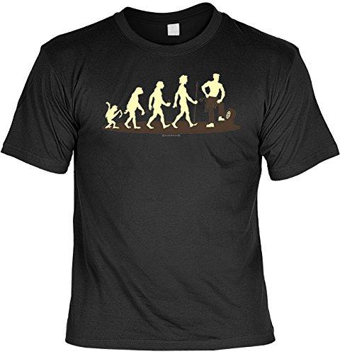 T-Shirt - Evolution Mechaniker - Hochwertiges Motiv Shirt als Geschenk für Auto Fans