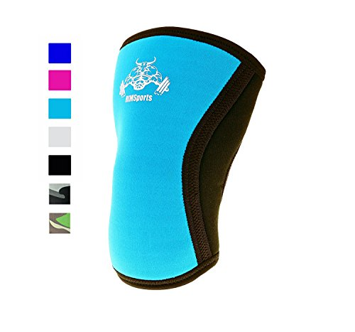 RIMSports Knee Support Squats Wrap Knee Sleeve 5mm Neoprene