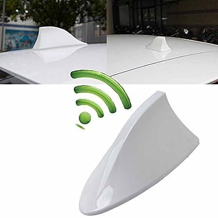 Car Antenna,POSSBAY Shark Fins Antennas Radio Signal Aerial for Auto SUV Truck Van